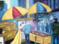 CANTINE A NEW YORK HUILE 16 x 20 60.00$