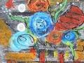 MON JARDIN D HIVER Dessin pastel à l huile sur estampe. Cadre inclus  60.00$