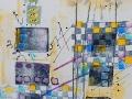BLEU # 2  9 x 12  encre  et acrylique sur papier