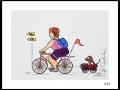 CYCLISTE # 10 - DESSIN À L ACRYLIQUE SUR  CARTON 6 X 8   - 40.00$