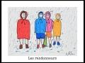 LES RANDONNEURS - DESSIN À L ACRYLIQUE SUR  CARTON 6 X 8   - 40.00$