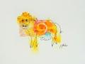 Bête # 23  -  Dessin et estampe à l acrylique sur papier Strathmore