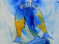 BELLE PRISE  - Acrylique sur papier toilé 6 x 6 30.00$