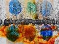 CHANGEMENT DE SAISON   -  Acrylique sur papier  Yupo  5 x 5 - 30.00$